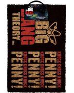 The Big Bang Theory Knock Knock Penny Fussmatte / Doormat