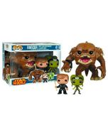 Star Wars Rancor Luke Skywalker & Slave Oola POP! Vinyl Dreierpack