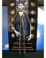 Nightmare before Christmas Deluxe Jack Skellington with interchangeable heads