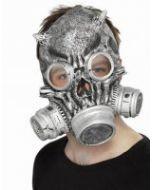 Totenkopf Maske mit Gasmaske