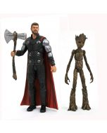 Marvel Select Thor and Groot Avengers: Infinity War