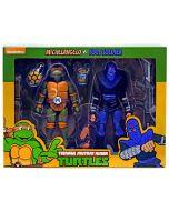 Teenage Mutant Ninja Turtles Michelangelo vs Foot Soldier NECA