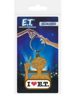 E.T. The Extraterrestrial / E.T. der Ausserirdische Gummi Schlüsselanhänger I Love E.T.