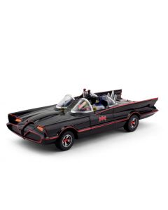 Batman 1966 Batmobile mit Mini-Biegefiguren Batman und Robin