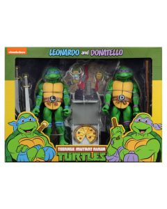 Teenage Mutant Ninja Turtles Leonardo and Donatello Cartoon Series 2 NECA