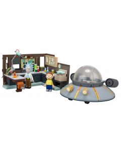 Rick and Morty Large Bauset Spaceship and Garage