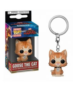 Captain Marvel Goose The Cat Pop! Keychain