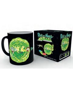 Rick & Morty Portal Tasse mit Thermoeffekt / Heat changing mug