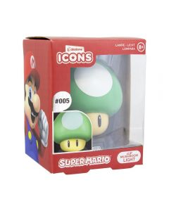 Super Mario Bros. 3D Icon Lampe 1Up Mushroom