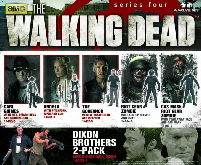 MCFARLANE TOYS AMC WALKING DEAD TV SERIES 4 MERLE AND DARYL DIXON FIGURE 2-PACK