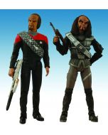 Star Trek DS9 Lieutenant Commander Worf & Chancellor Gowron 2-Pack
