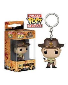 The Walking Dead TV Rick Pop! Keychain