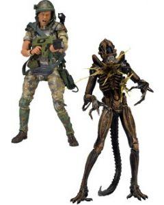 Aliens 2-Pack Hudson vs Brown Warrior