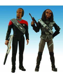 Star Trek DS9 Lieutenant Commander Worf & Chancellor Gowron 2-Pack