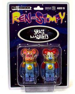 Ren & Stimpy Astronaut Bearbrick 2-Pack