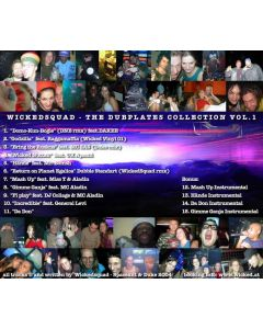 WickedSquad Dubplate Collection Vol. 1  CD