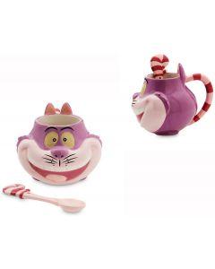 Disney Alice in Wonderland 3D Grinsekatze Tasse / Mug mit Löffel