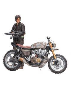 The Walking Dead Deluxe Actionfigur Daryl Dixon mit Chopper Staffel 5/6