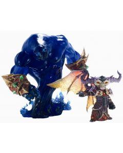 WORLD OF WARCRAFT DLX Gnome Warlock Valdremar with Voidwalker Voyd