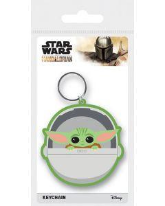 Star Wars The Mandalorian Grogu / The Child / Baby Yoda Gummi Keychain / Schlüsselanhänger