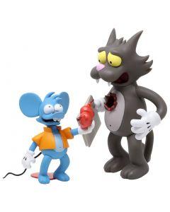 Kidrobot Simpsons Vinyl Figuren Doppelpack Itchy & Scratchy