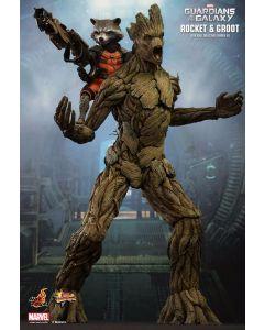 Guardians of the Galaxy Groot + Rocket Raccoon / Hot Toys