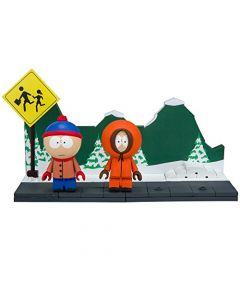 South Park Small Bauset Stan & Kenny with the Bus Stop