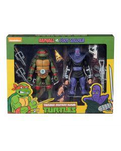 Teenage Mutant Ninja Turtles Raphael vs Foot Soldier NECA